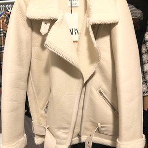 Zara Double Faced Biker Jacket 100%new unworn